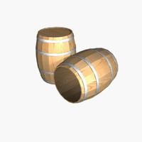 3d model barrel v-ray