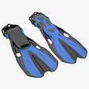 flippers 3D models