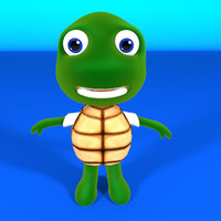 Turtle Cartoon 3D Model
