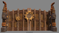 steampunk gate 3d model