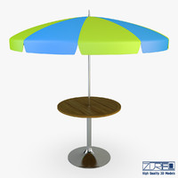 patio table umbrella v 3d max