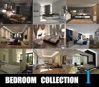 3d model bedrooms scenes