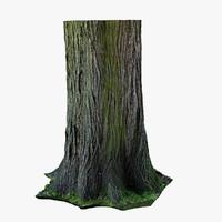 wood stump 3d model