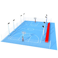 outdoor basketball court obj