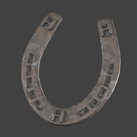 3d model low-poly horse shoe