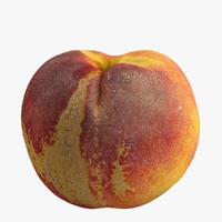 3d realistic peach model