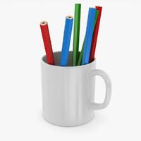 pencil cup 3d model
