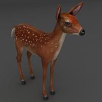 fawn 3d model