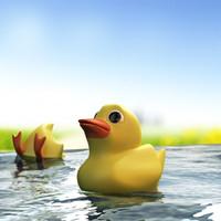 3dsmax cartoon duck rubber