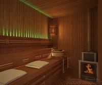 finnish sauna 3d obj