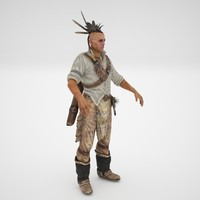 3d model indian warrior