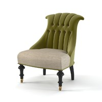 Mis En Demeure French classic tufted modern contemporary traditional art deco chair buttoned armchair