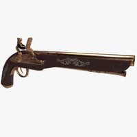 old musket xviii 3d model