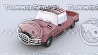 pickup cartoon car 3d model
