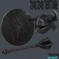 3d shield 1 model