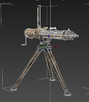 3d gatling machine gun model
