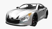 3dsmax generic sport car