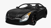 generic sport car black 3d max