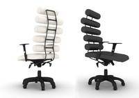 3d model of office armchair