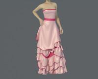 dress girl 3d max