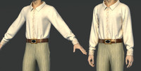 clothes garment shirts 3d max