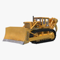 bulldozer cat 3d max