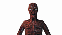 zombie ghouls fallout 3d model