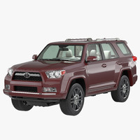 toyota 4runner 2012 simple 3d model