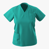 female surgeon dress 9 3d 3ds