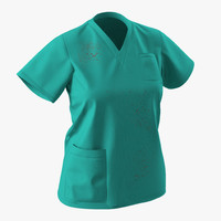 3d model female surgeon dress 9