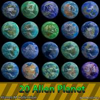 3d model planets m