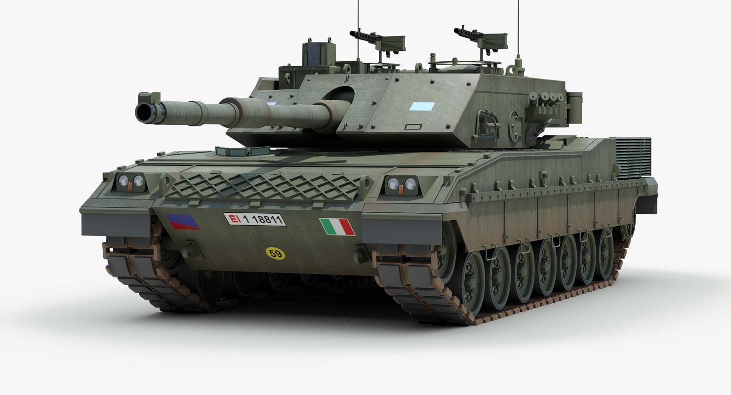 Italian c1 ariete tank 3d 3ds for Ariete evo 2 in 1