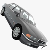 bmw 750i e38 1998 3d 3ds