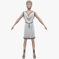 roman hair cloth 3d max