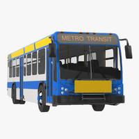 maya bus metro transit rigged