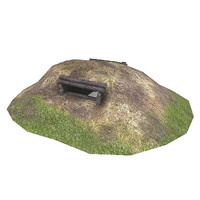 3d model war 2 pillbox