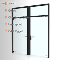 3d fbx glass door
