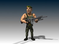 3d captain james model