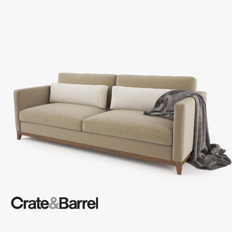 Crate and Barrel Taraval 2 Seat Sofa_1.jpg