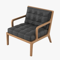 3d lucan armchair model