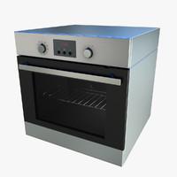 3ds realistic ikea raffinerad oven