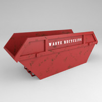 3d model of industrial skip