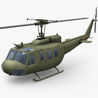 bell uh-1d huey helicopter 3d model