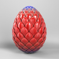 3d model robot dragon egg