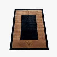 3d model versace carpet medusa rug