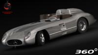 3d mercedes-benz 300 slr 1955