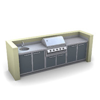 3d outdoor kitchen model