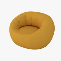 3d capsule chair zippy