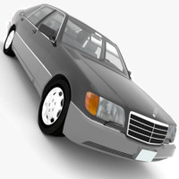 3ds max mercedes-benz 600sel v140 1991