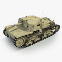 3d model fiat semovente tank 75